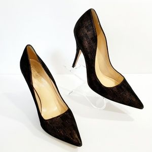Kate Spade  black shimmer golden pumps stilettos